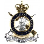 Dorset Yeomanry Silver/Gilt/Enamel Plated Cap Badge