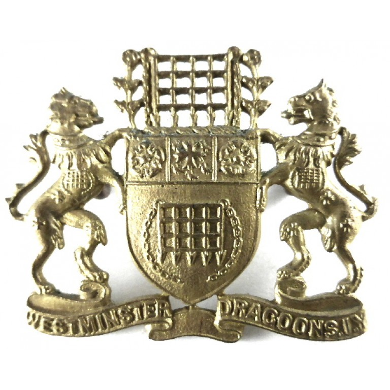 2nd County Of London Westminster Dragoons Imperial Yeomanry Brass Cap Badge