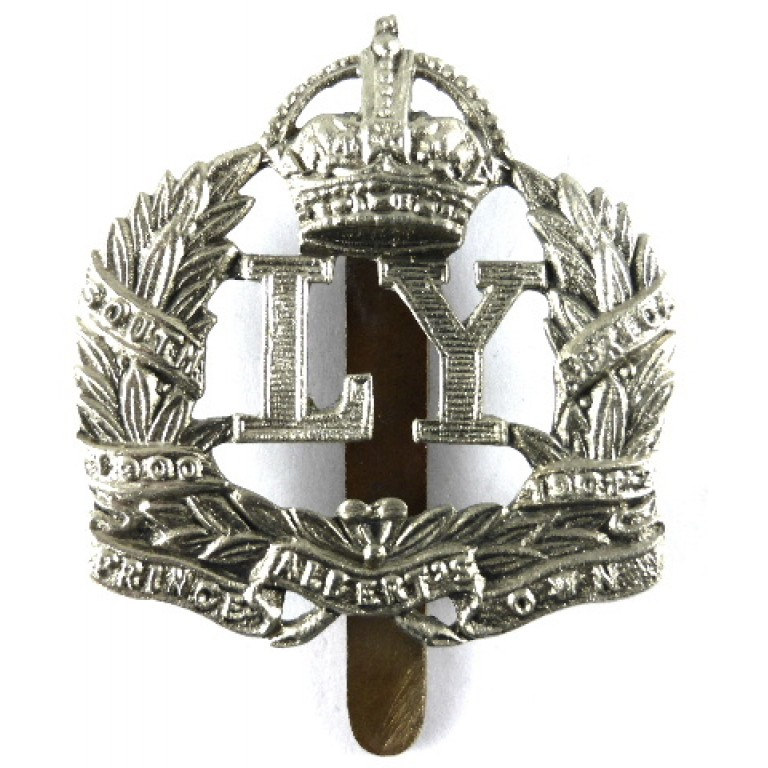 Leicestershire Yeomanry White Metal Cap Badge