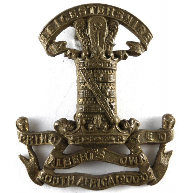 Leicestershire Yeomanry Brass Cap Badge