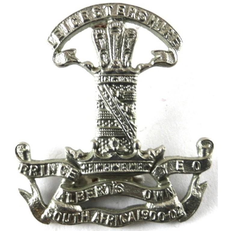 Leicestershire Yeomanry White Metal Cap Badge.