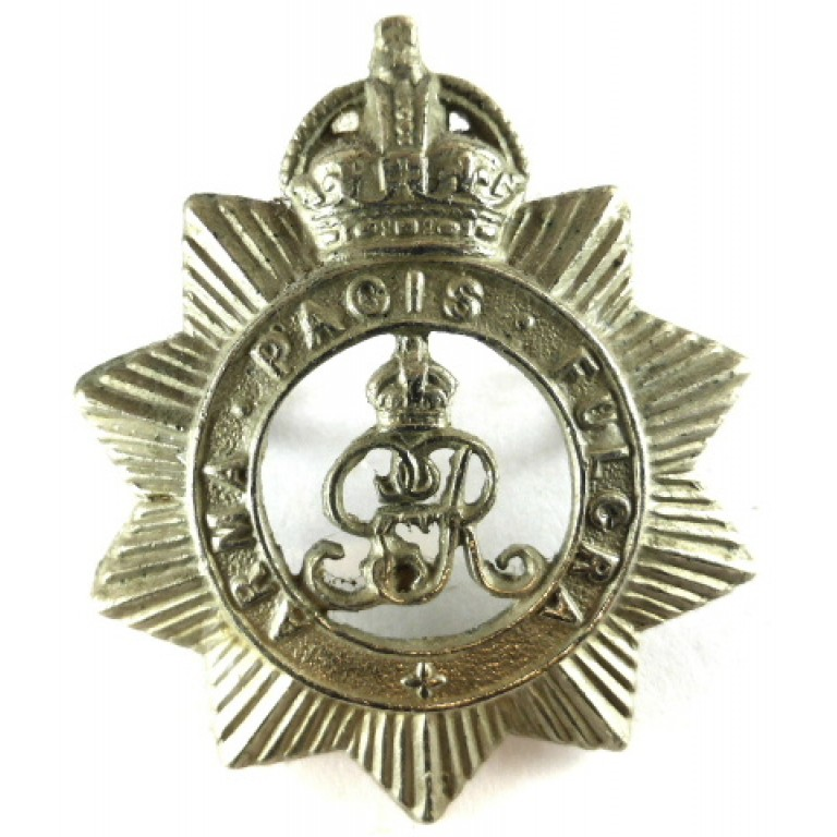 North Somerset Yeomanry GVR White Metal Cap Badge