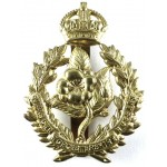 Queens Own Worcestershire Hussars All Brass Cap Badge