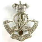Queen`s Own Oxfordshire Hussars White Metal Cap Badge
