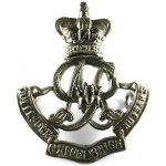 Queens Own Oxfordshire Hussars White Metal Cap Badge