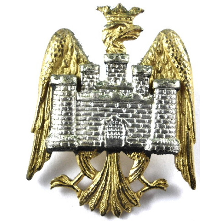 Bedfordshire Yeomanry Officers Silver/Gilt Cap Badge