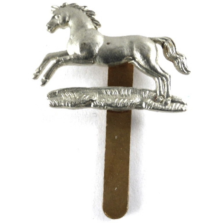 Northamptonshire Yeomanry White Metal Cap Badge