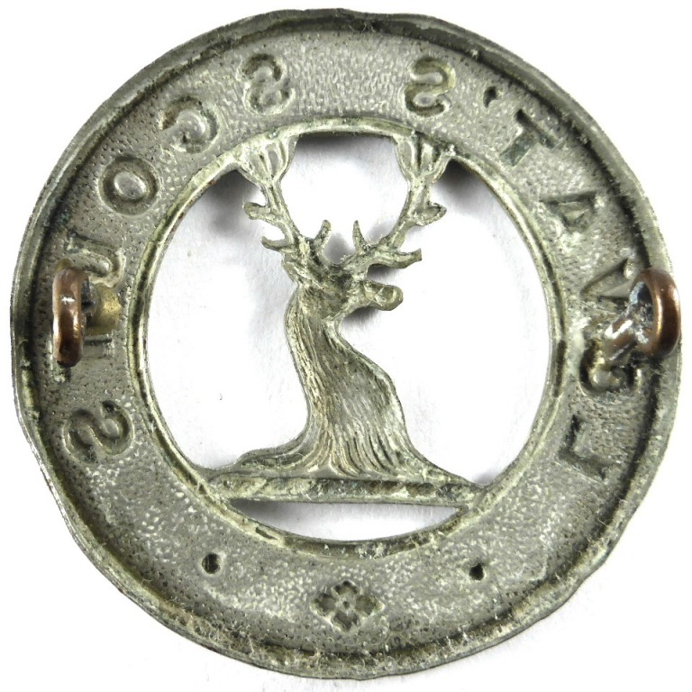 Lovat Scouts Yeomanry White Metal Cap Badge