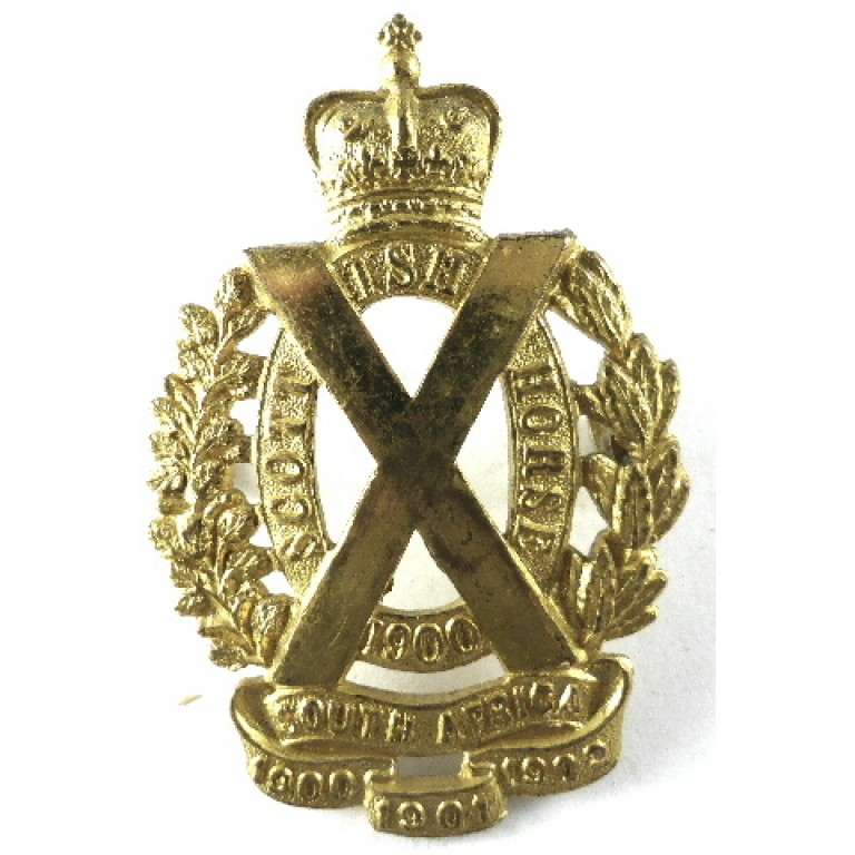 The Scottish Horse Officers Gilt Cap Badge