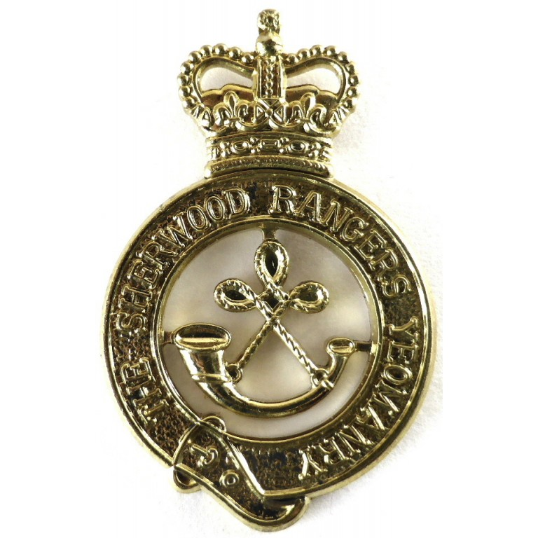 The Sherwood Rangers Yeomanry Brass Cap Badge