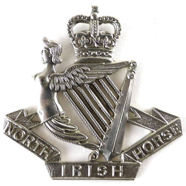 North Irish Horse E11R White Metal