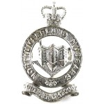 Northumberland Hussars Officers Silver Plated Cap Badge