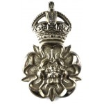 Queens Own Yorkshire Dragoons Officers Silver Plated Cap Badge