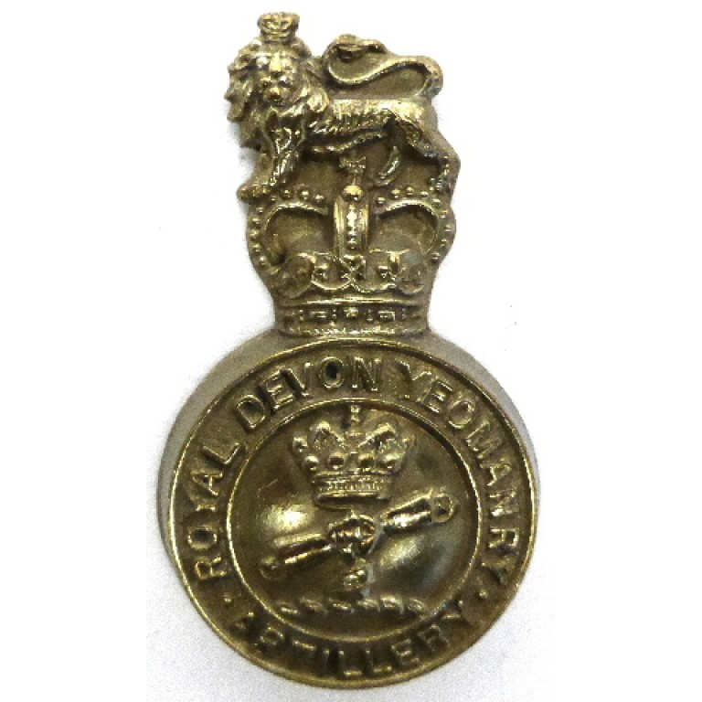 Royal Devon Yeomanry Artillery E11R Brass Cap Badge