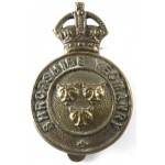 Shropshire Yeomanry Pre 1953 Brass Cap Badge Solid Centre