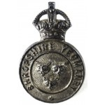 Shropshire Yeomanry Officers Silver Cap Badge