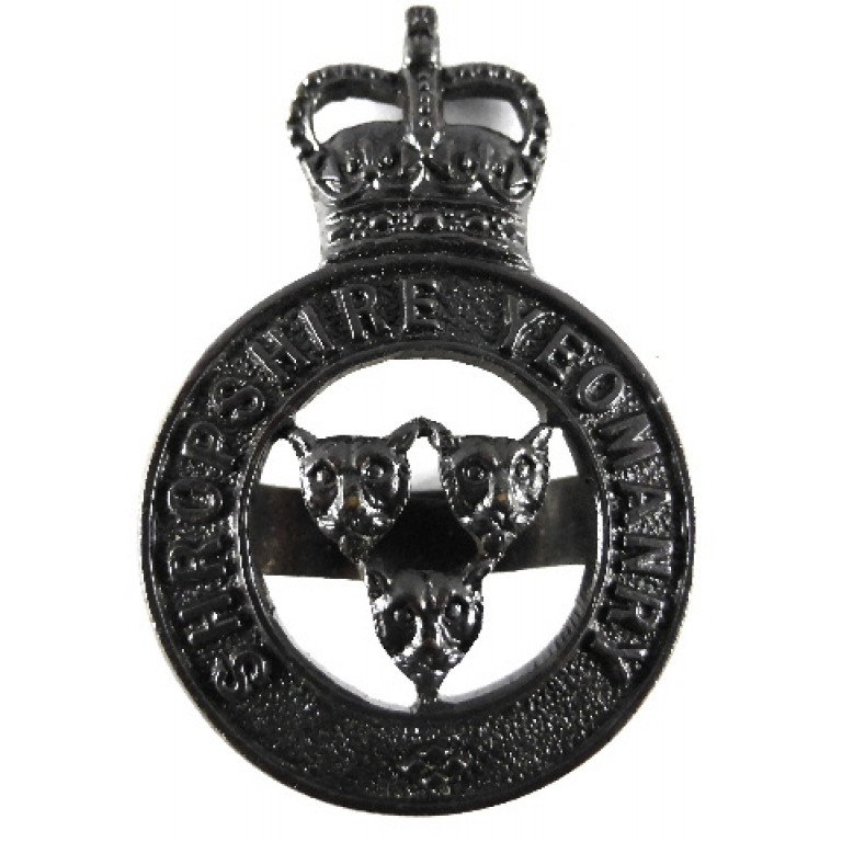Shropshire Yeomanry Officers Bronze Cap Badge