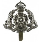 Derbyshire Yeomanry White Metal Cap Badge