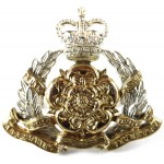 Derbyshire Yeomanry Officers Silver/Gilt Cap Badge