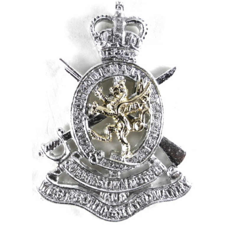 West Somerset Yeomanry Anodised Aluminium Cap Badge