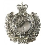 Queens Own Dorset Yeomanry White Metal