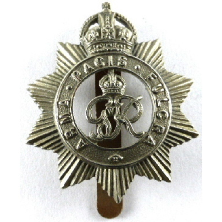 North Somerset Yeomanry GV1R White Metal Cap Badge