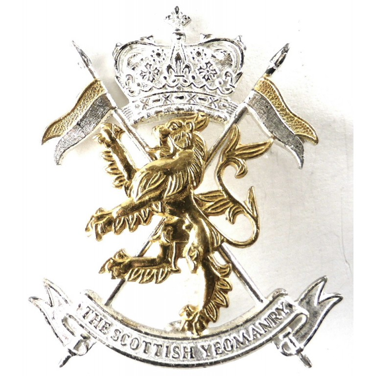 The Scottish Yeomanry Silver/Gilt Cap Badge