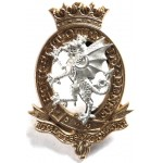 Royal Wessex Yeomanry Officers Silver/Gilt Plated Cap Badge