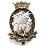 Royal Wessex Yeomanry Or`s Silver/Gilt/Enamel Plated Cap Badge