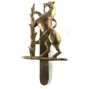 Warwickshire Imperial Yeomanry Brass Cap Badge 38mm Tall